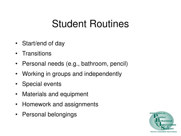 Student Routines