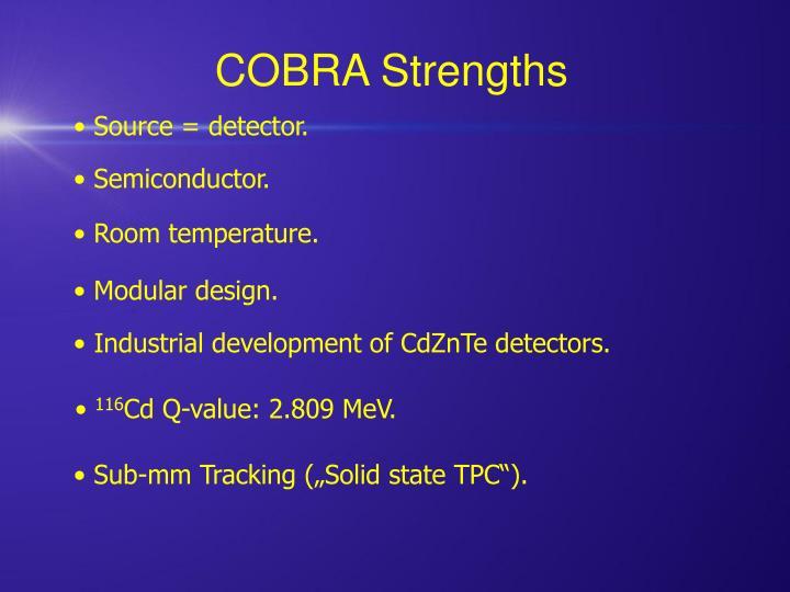 COBRA Strengths
