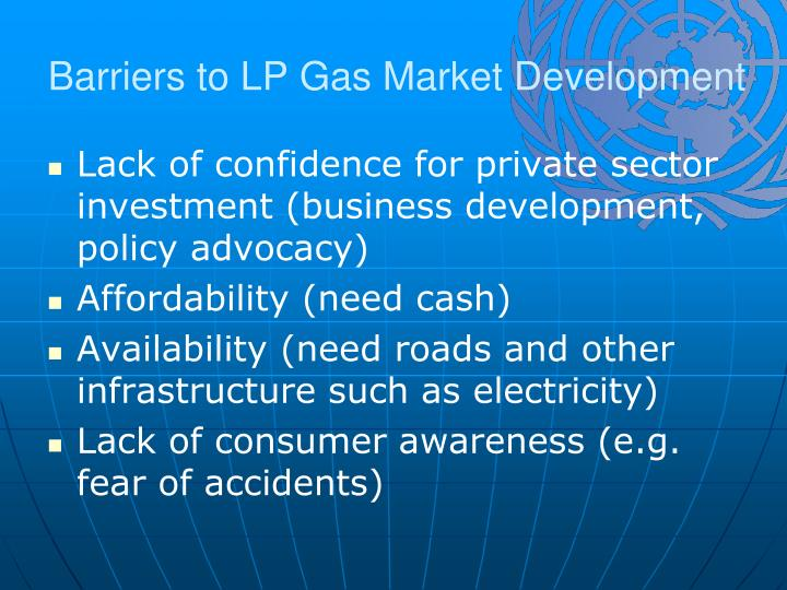 Barriers to LP Gas Market Development