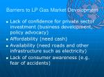 barriers to lp gas market development