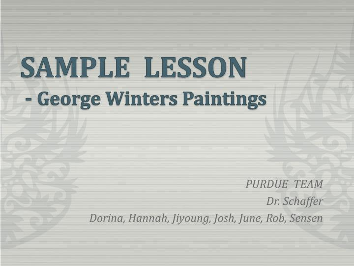 Sample lesson george winters paintings