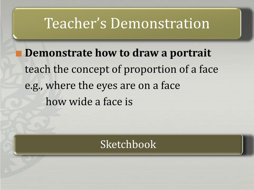 Teacher's Demonstration