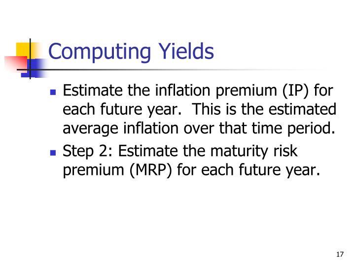 Computing Yields