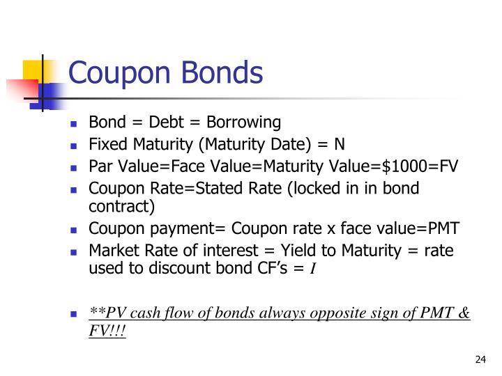 Coupon Bonds