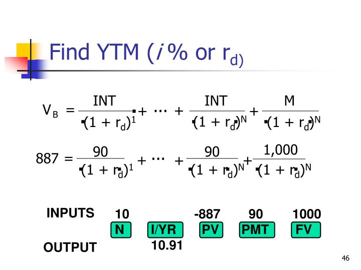 Find YTM (