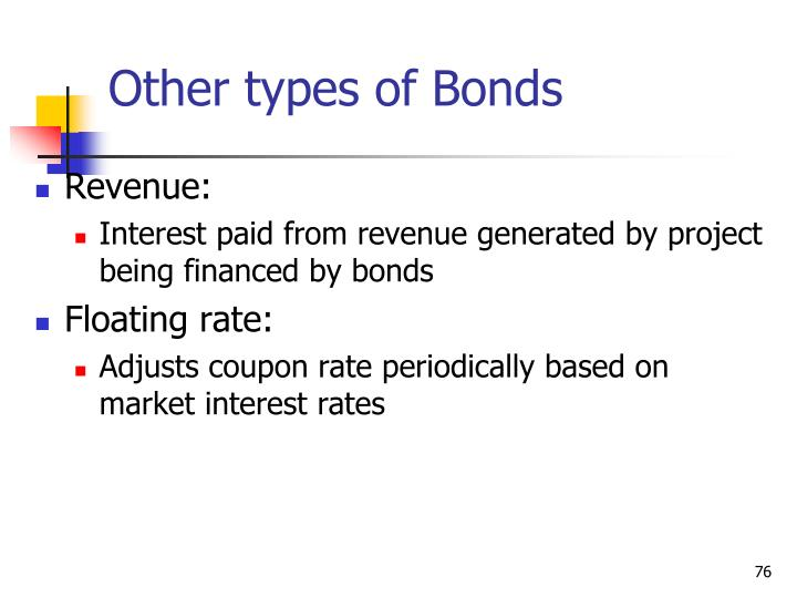 Other types of Bonds