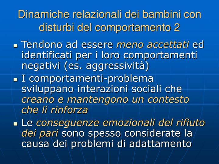 Dinamiche relazionali dei bambini con disturbi del comportamento 2
