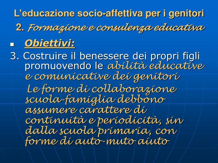 L'educazione socio-affettiva per i genitori