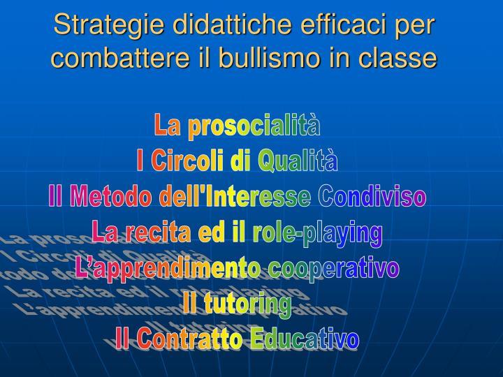 Strategie didattiche efficaci per combattere il bullismo in classe