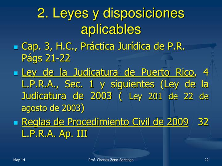 2. Leyes y disposiciones aplicables