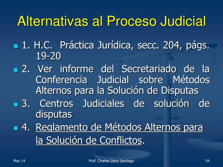 Alternativas al Proceso Judicial
