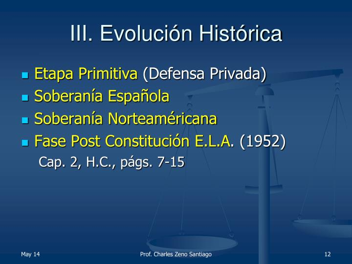 III. Evolución Histórica