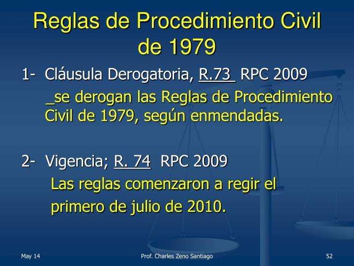 Reglas de Procedimiento Civil de 1979