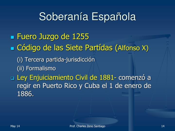 Soberanía Española