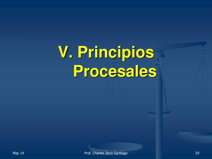 V. Principios