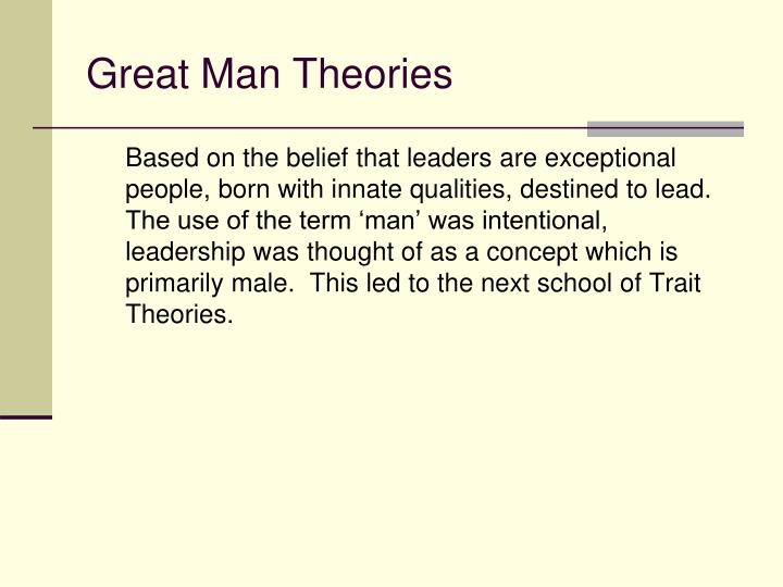 Great Man Theories