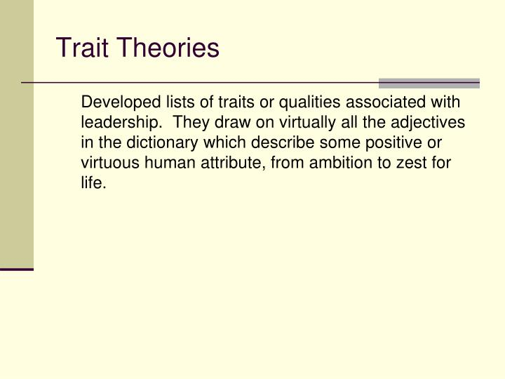 Trait Theories