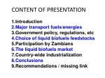 content of presentation