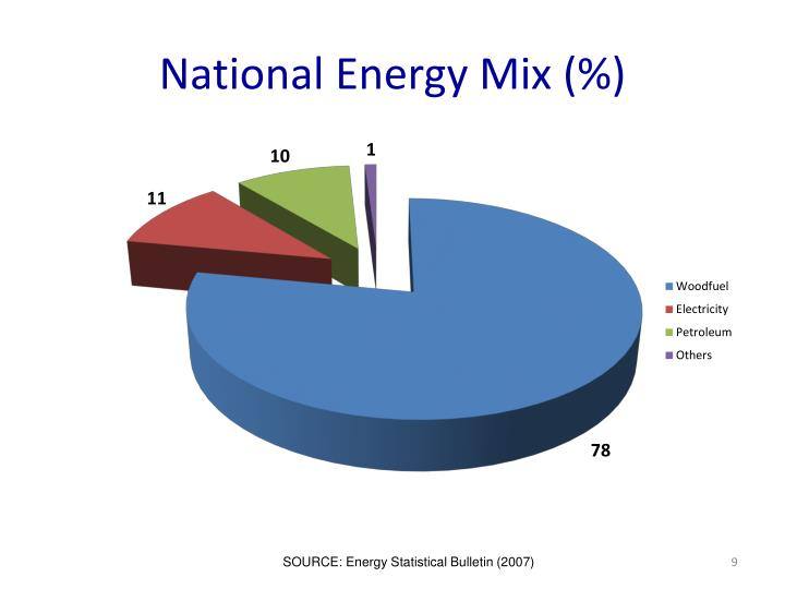 National Energy Mix (%)