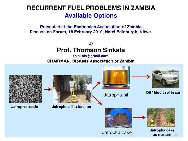 RECURRENT FUEL PROBLEMS IN ZAMBIA