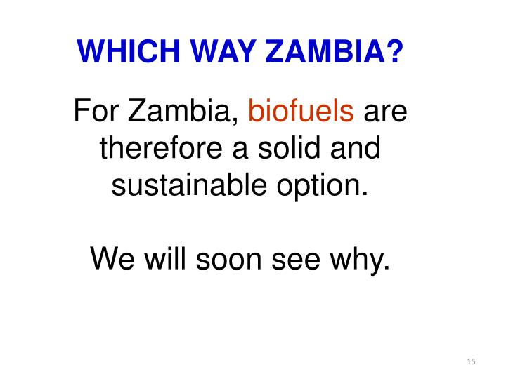 WHICH WAY ZAMBIA?