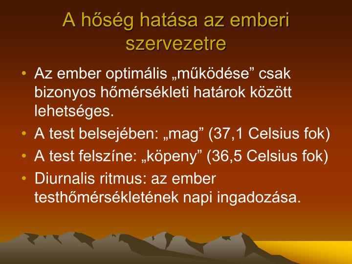 A hőség hatása az emberi szervezetre