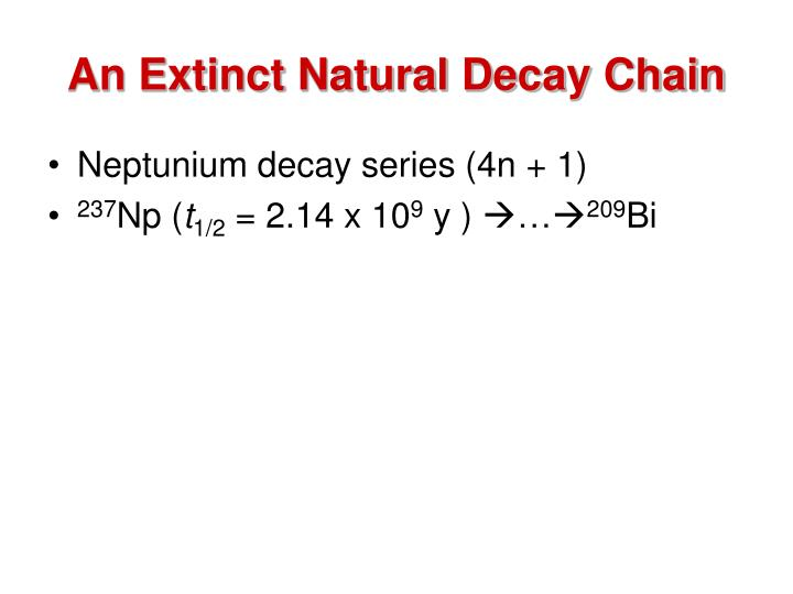 An Extinct Natural Decay Chain