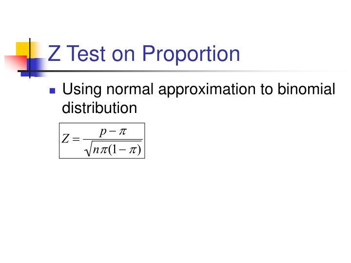 Z Test on Proportion