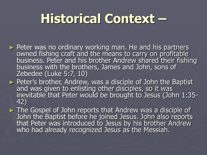 Historical Context –
