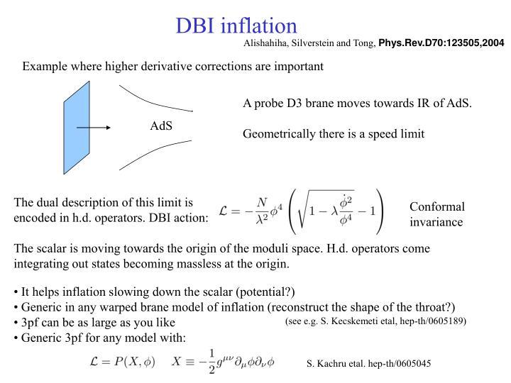 DBI inflation