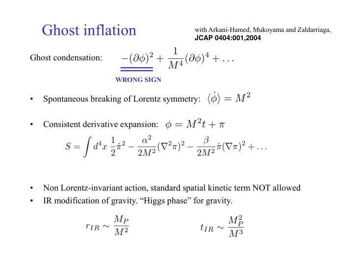 Ghost inflation