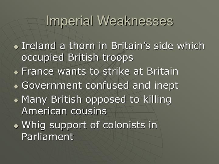 Imperial Weaknesses