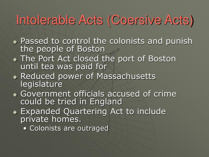 Intolerable Acts (Coersive Acts)