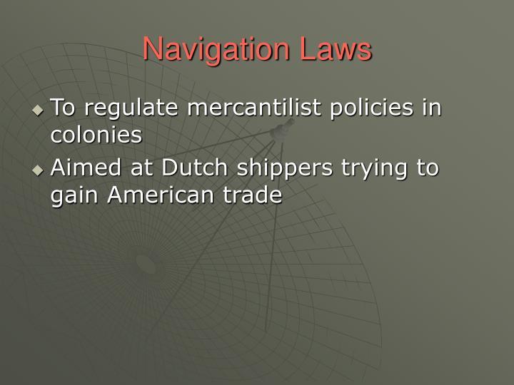 Navigation Laws