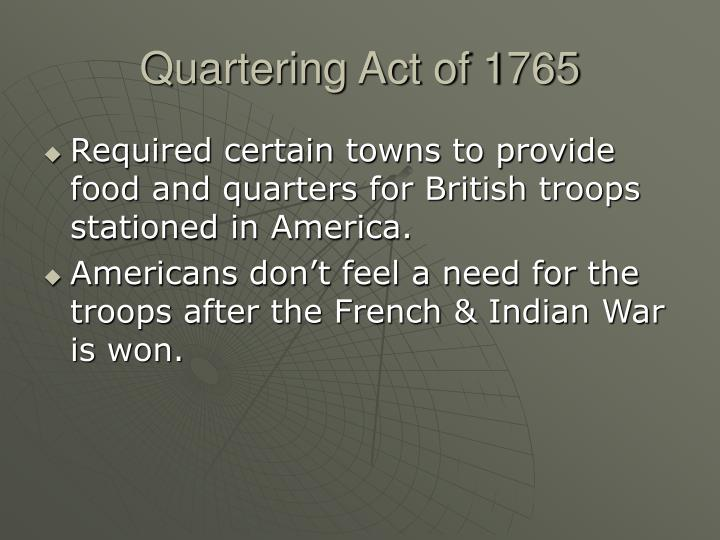 Quartering Act of 1765