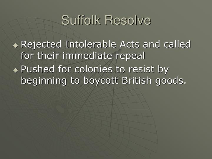 Suffolk Resolve