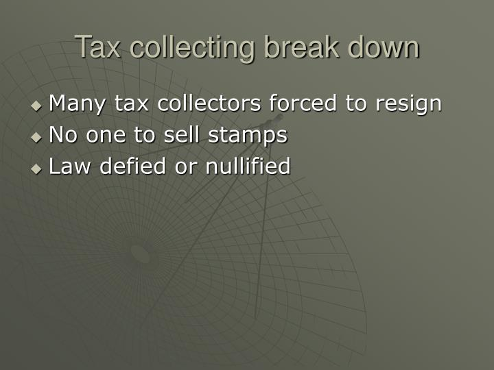 Tax collecting break down