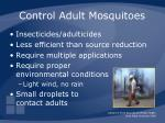 control adult mosquitoes