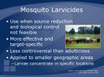mosquito larvicides