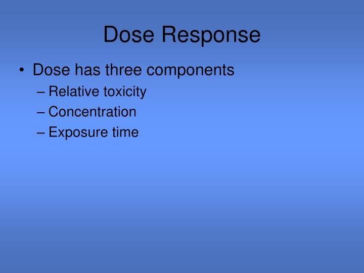Dose Response