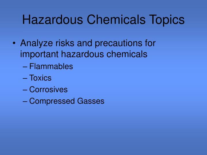 Hazardous Chemicals Topics