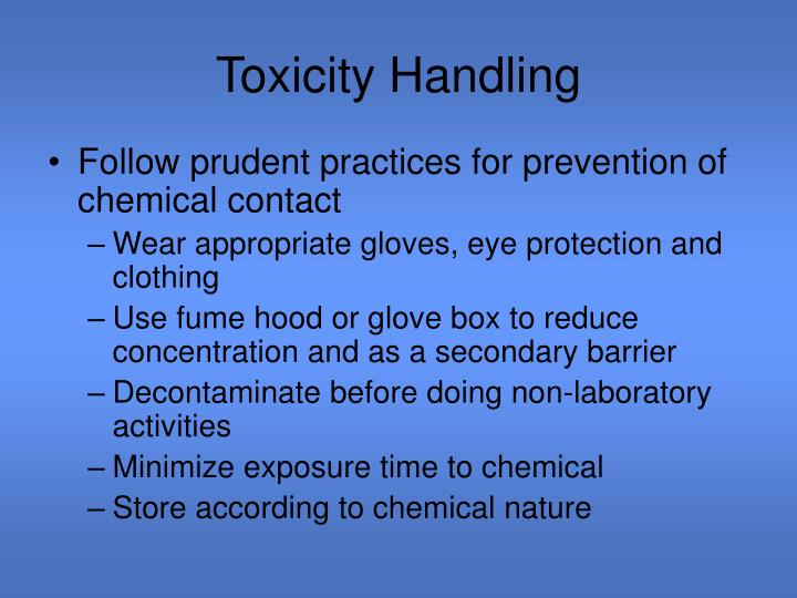 Toxicity Handling