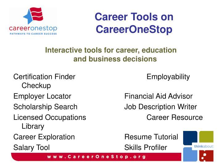 Career Tools on CareerOneStop
