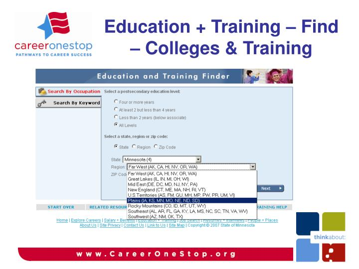 Education + Training – Find – Colleges & Training