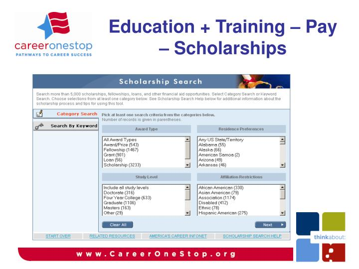 Education + Training – Pay