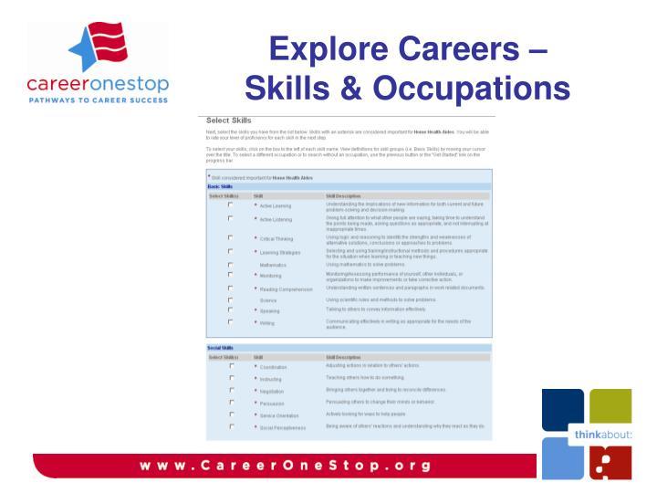 Explore Careers –