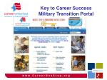 key to career success military transition portal