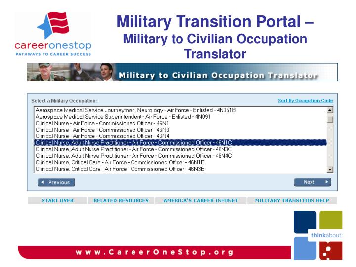 Military Transition Portal –