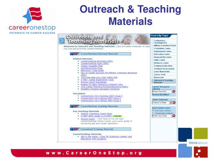 Outreach & Teaching Materials