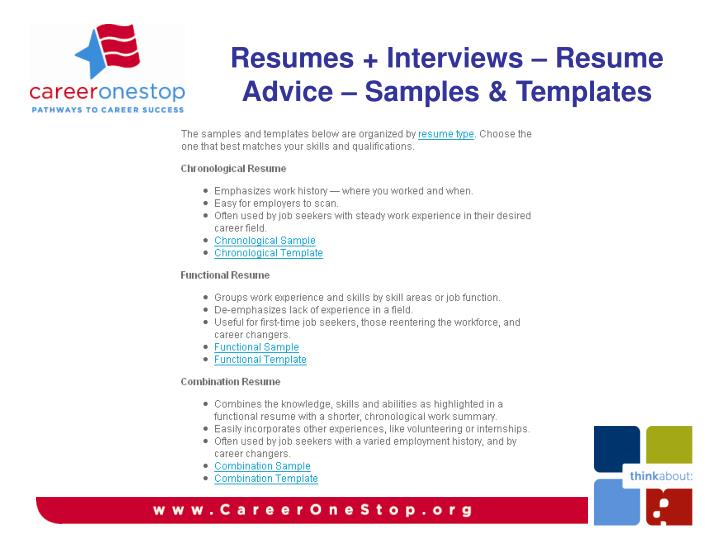 Resumes + Interviews – Resume Advice – Samples & Templates